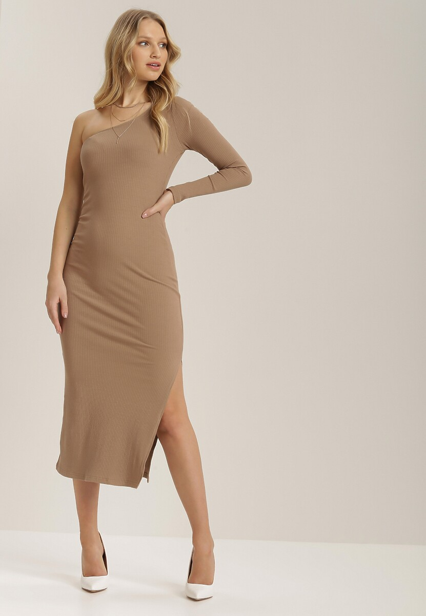 Ciemnobeżowa Sukienka Phyles