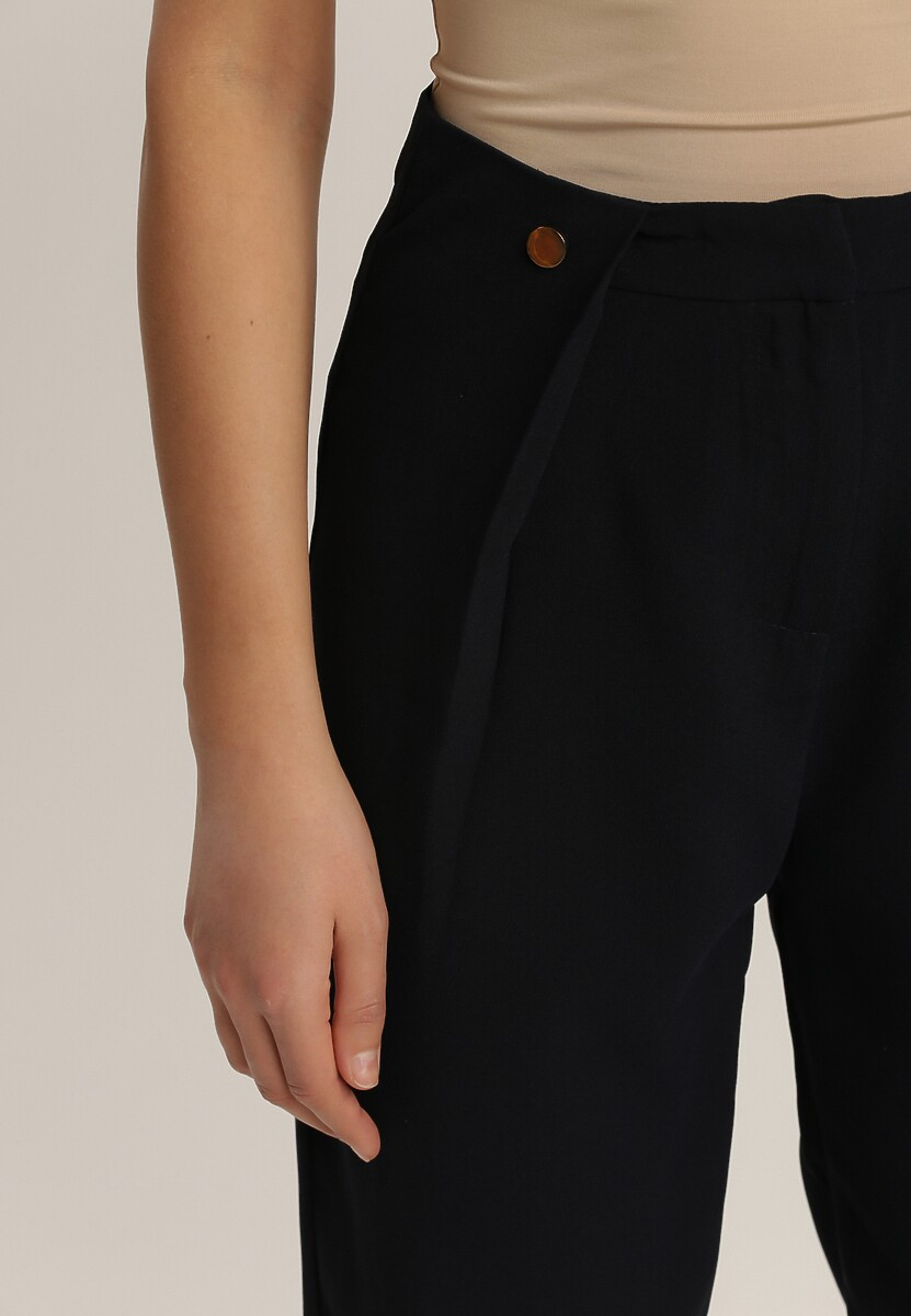 Granatowe Spodnie Saavi