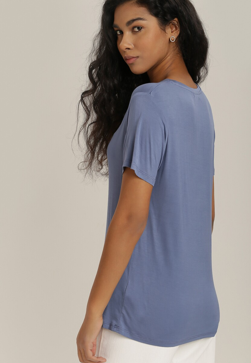 Niebieski T-shirt Hoci