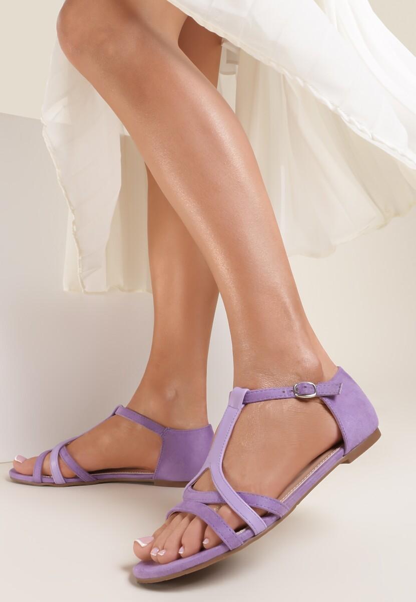 Liliowe Sandały Saphalina