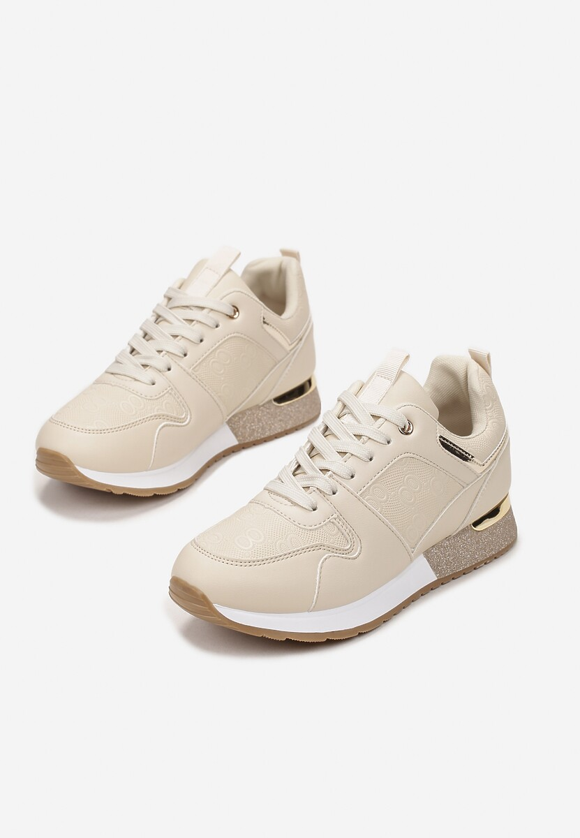 Beżowe Sneakersy Abrielle