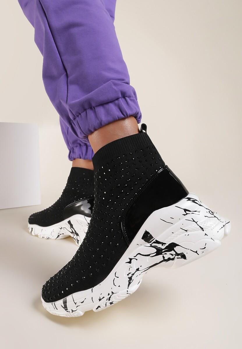 Czarne Sneakersy Almithara