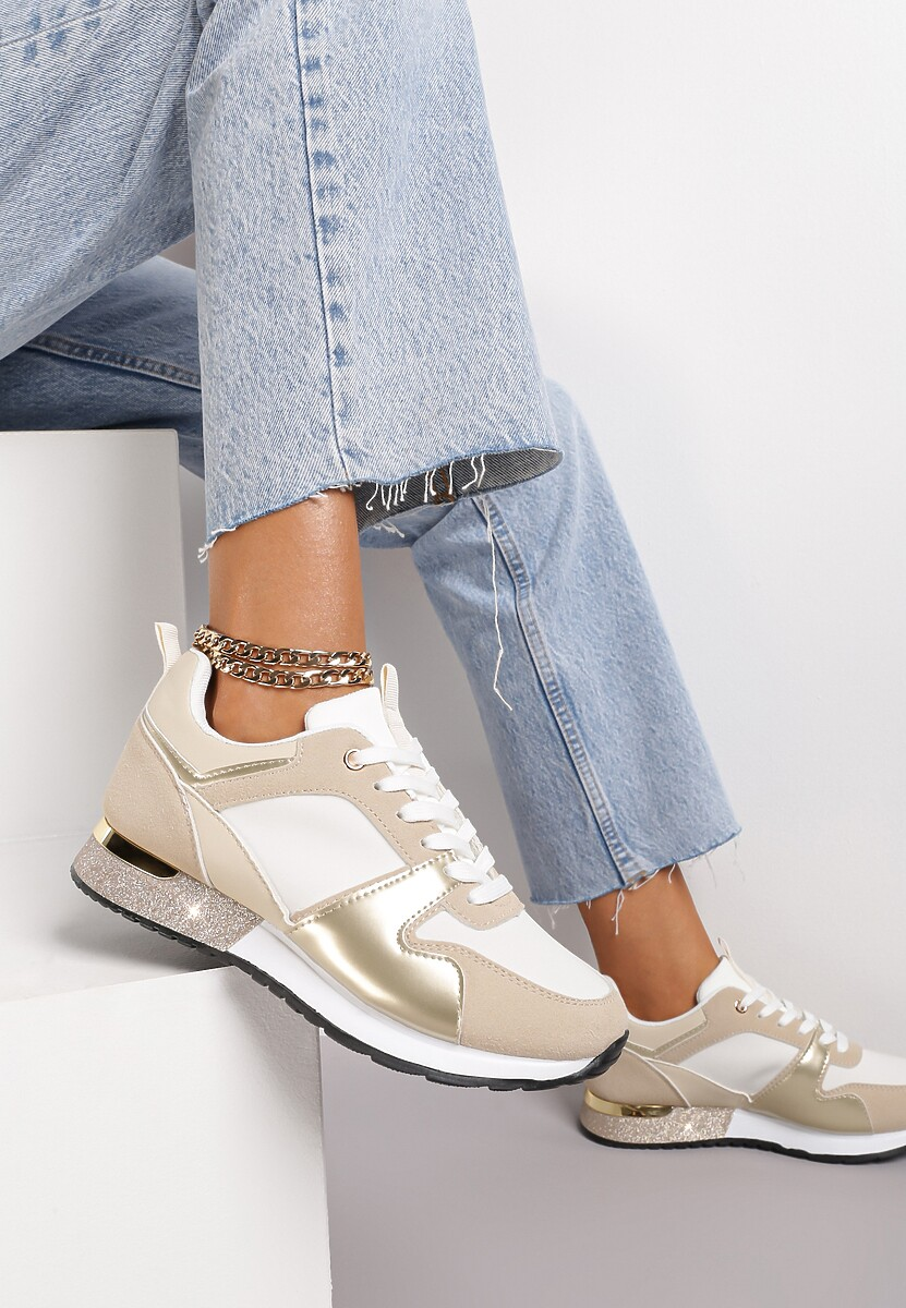 Beżowe Sneakersy Seren
