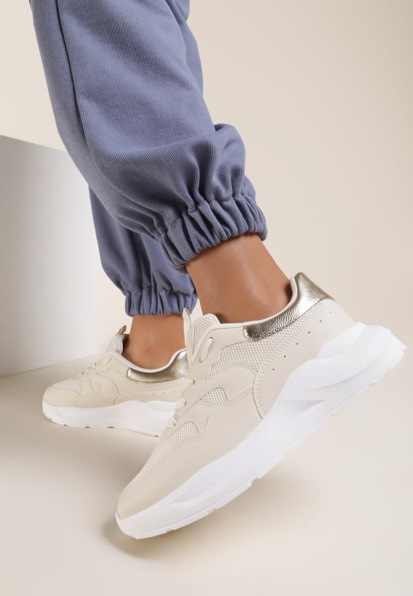 Beżowe Sneakersy Ulesse