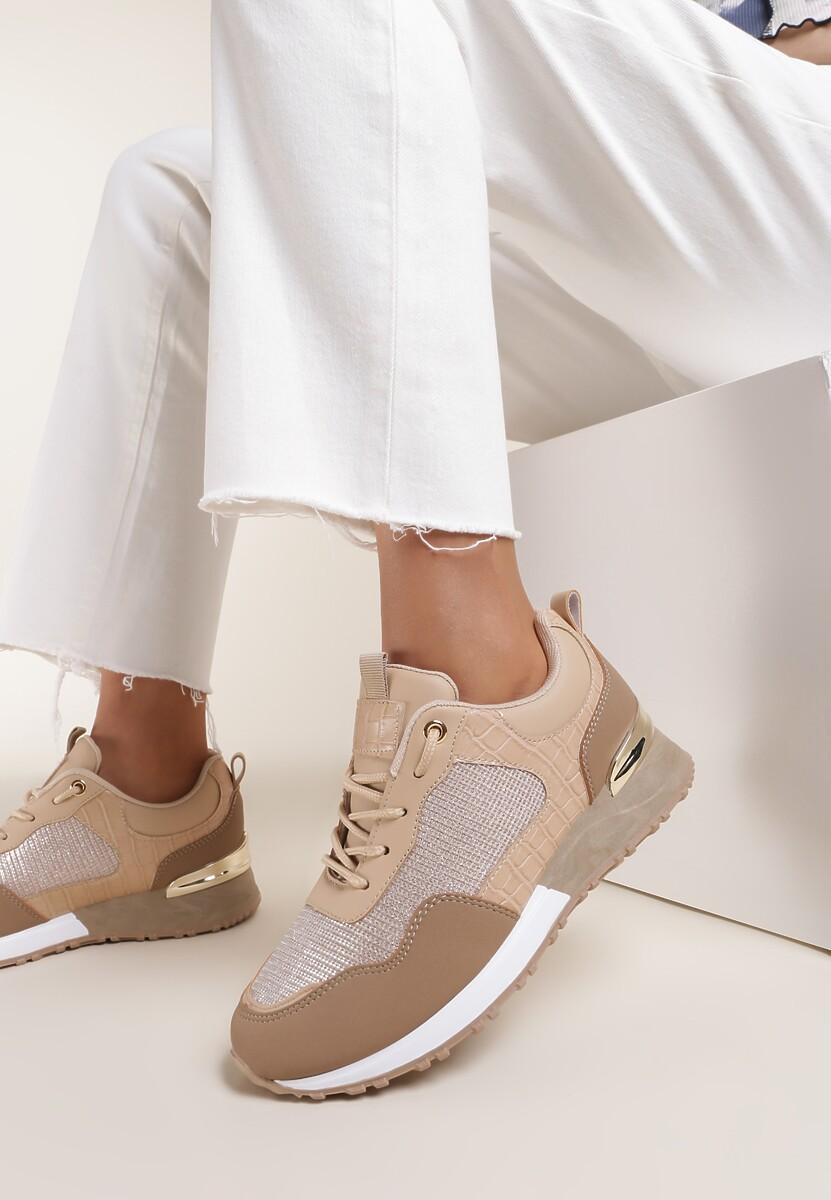 Beżowe Sneakersy Malonne