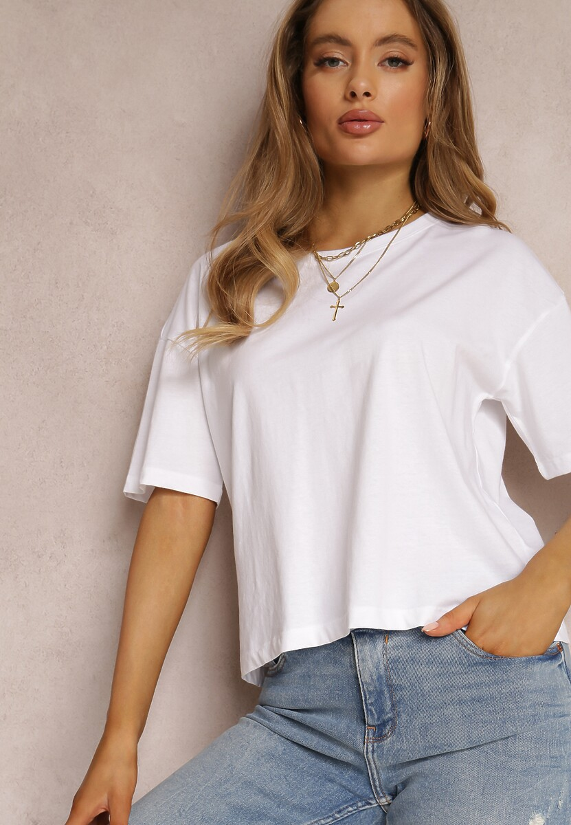 Biały T-shirt Trafaren
