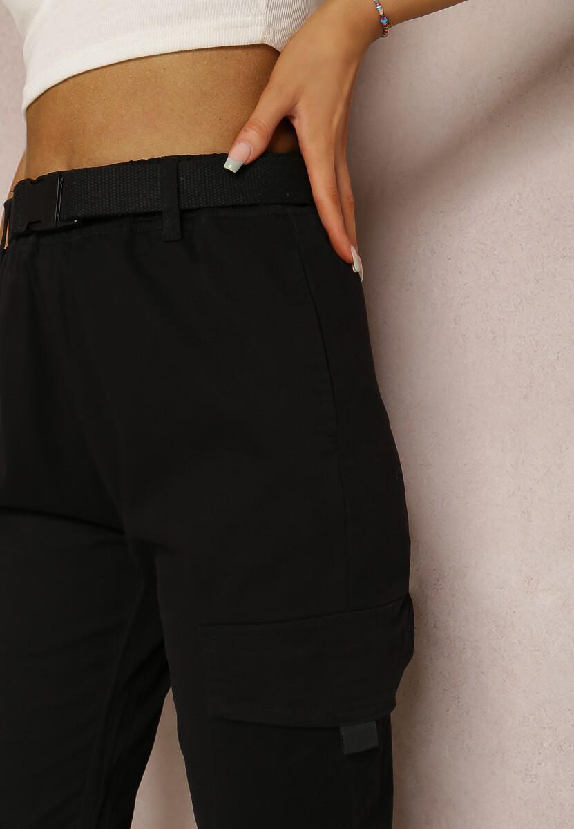 Czarne Spodnie Joggery Cariloria