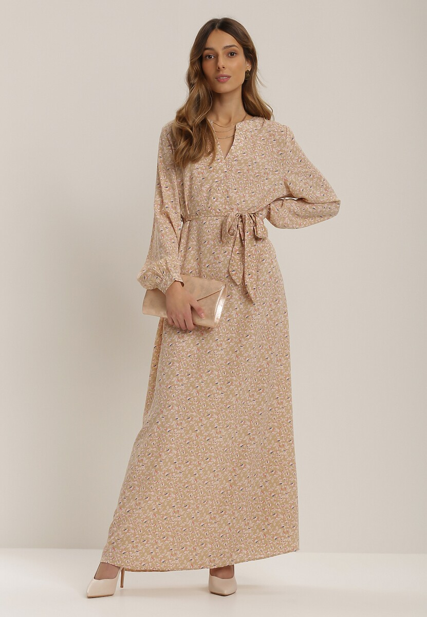 Jasnobeżowa Sukienka Kelless