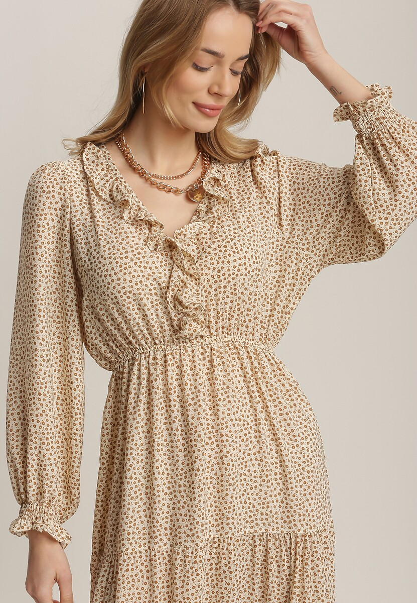 Kremowa Sukienka Orimei