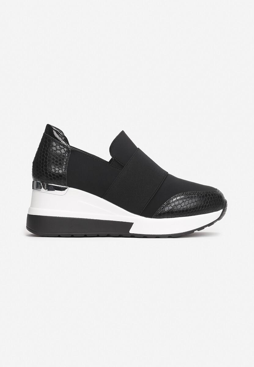 Czarne Sneakersy Phalikaia
