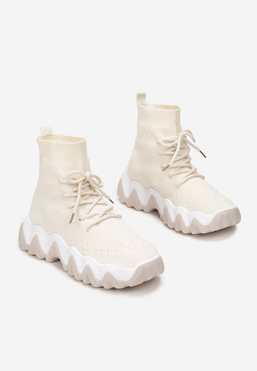 Jasnobeżowe Sneakersy Aeztyse