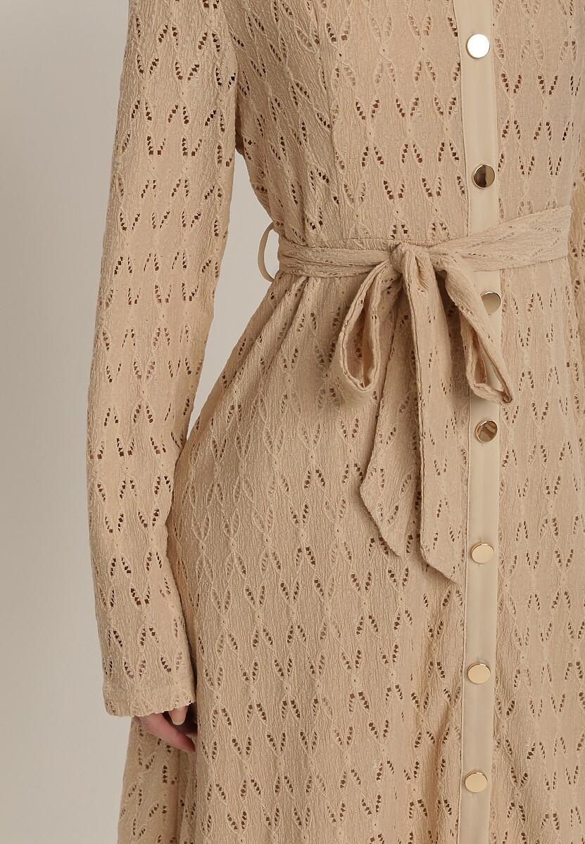 Beżowa Sukienka Loraila