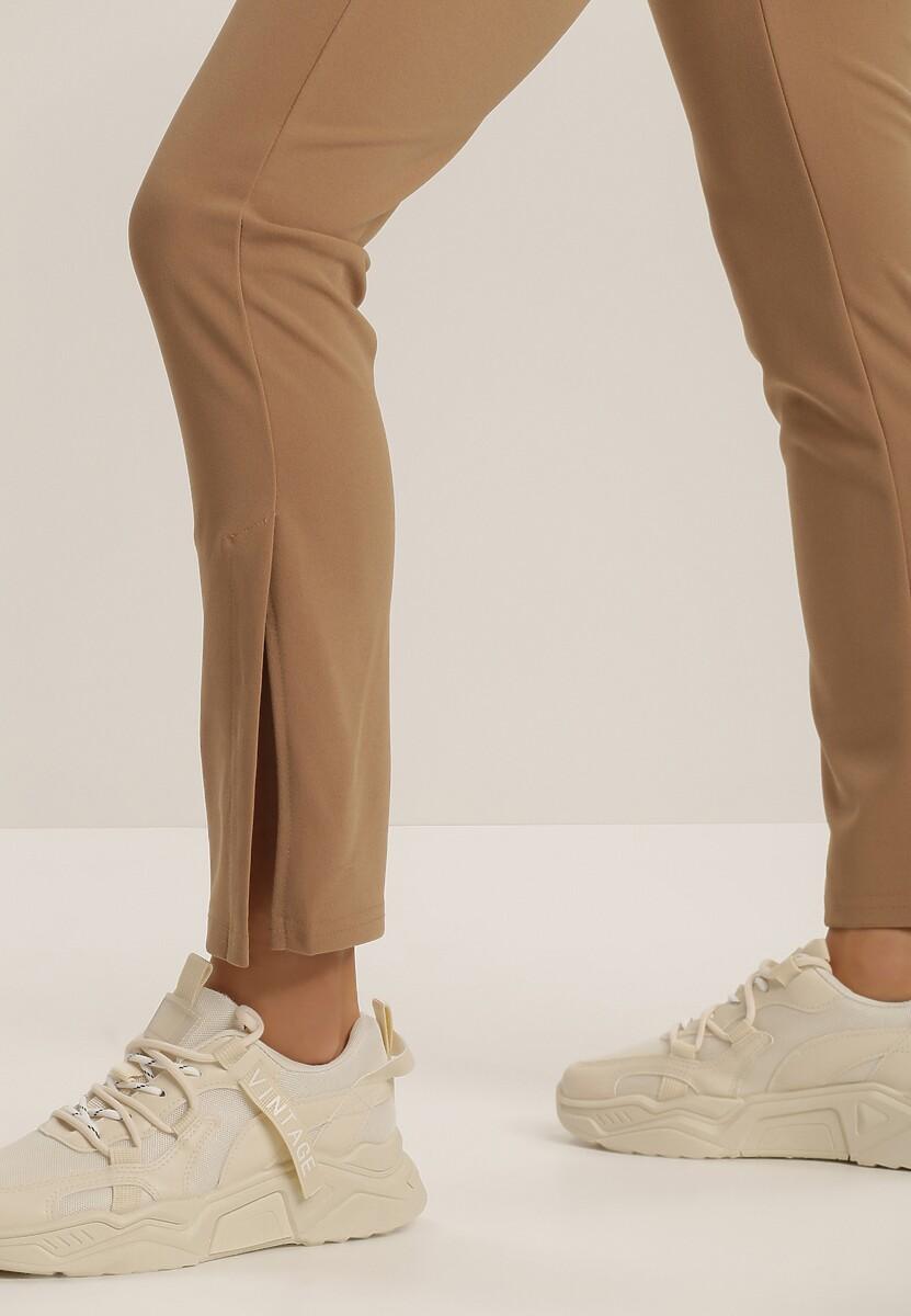 Ciemnobeżowe Spodnie Corrane