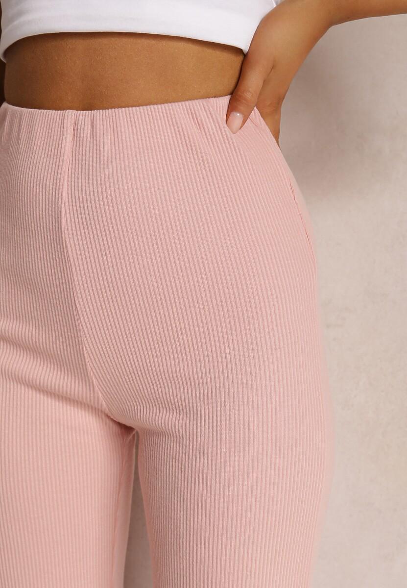 Różowe Spodnie Szerokie Salanome