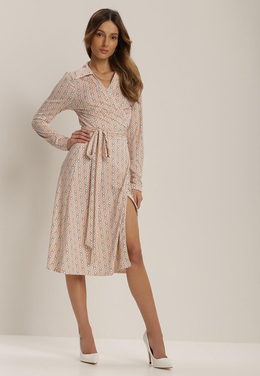Jasnoróżowa Sukienka Delabel