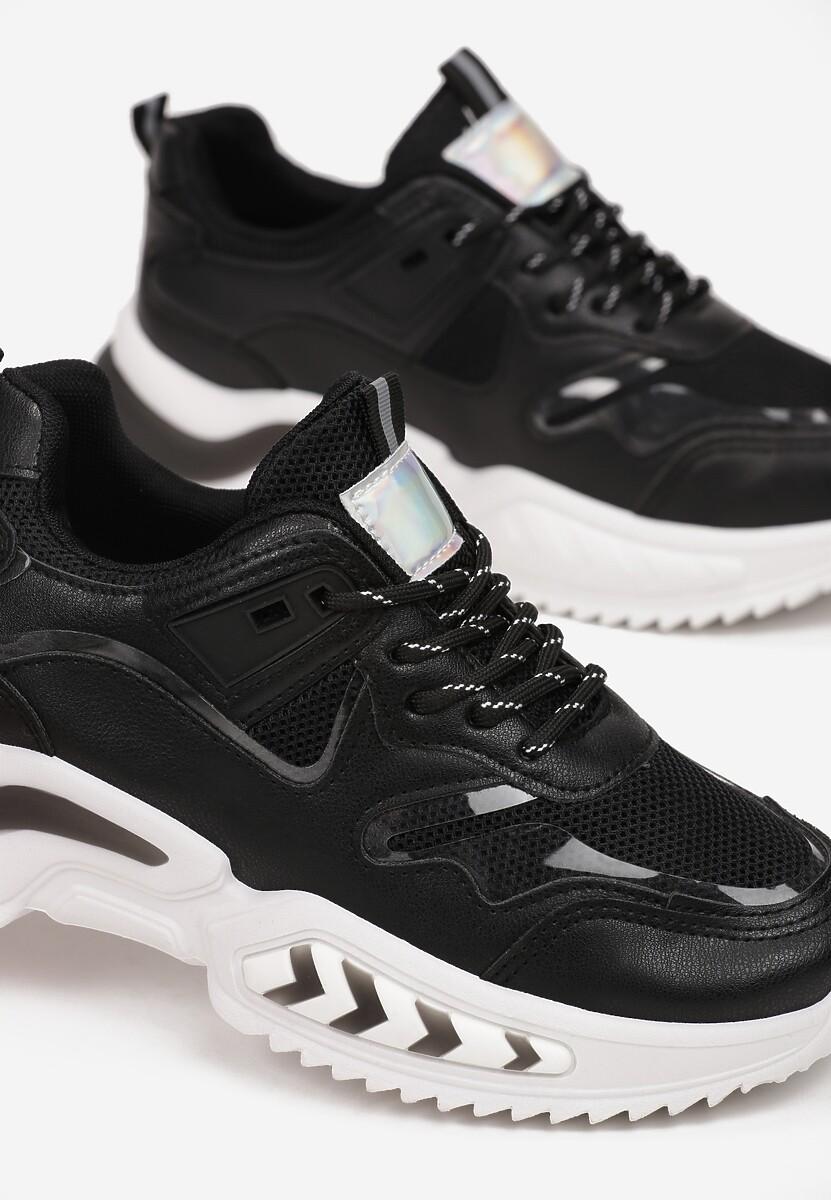 Czarne Sneakersy Pisidise