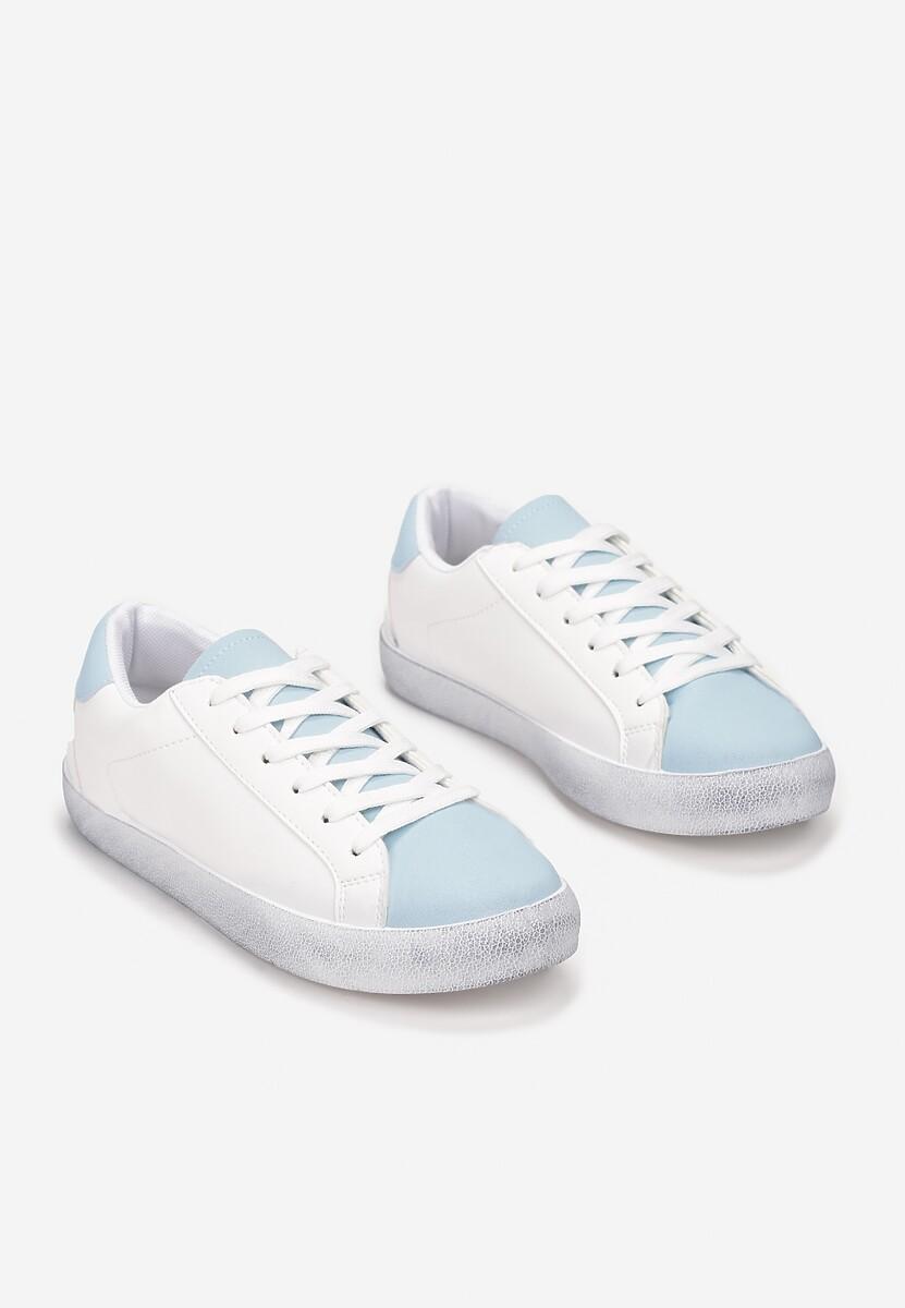 Biało-Niebieskie Trampki Dova