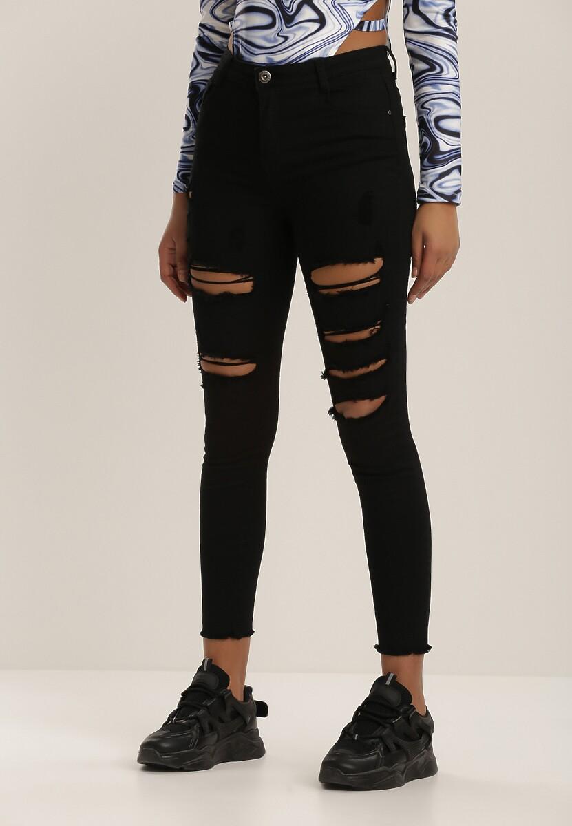 Czarne Spodnie Skinny Vhesova