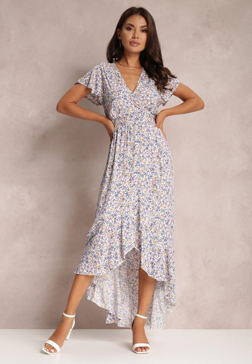 Biało-Fioletowa Sukienka Kahlinia