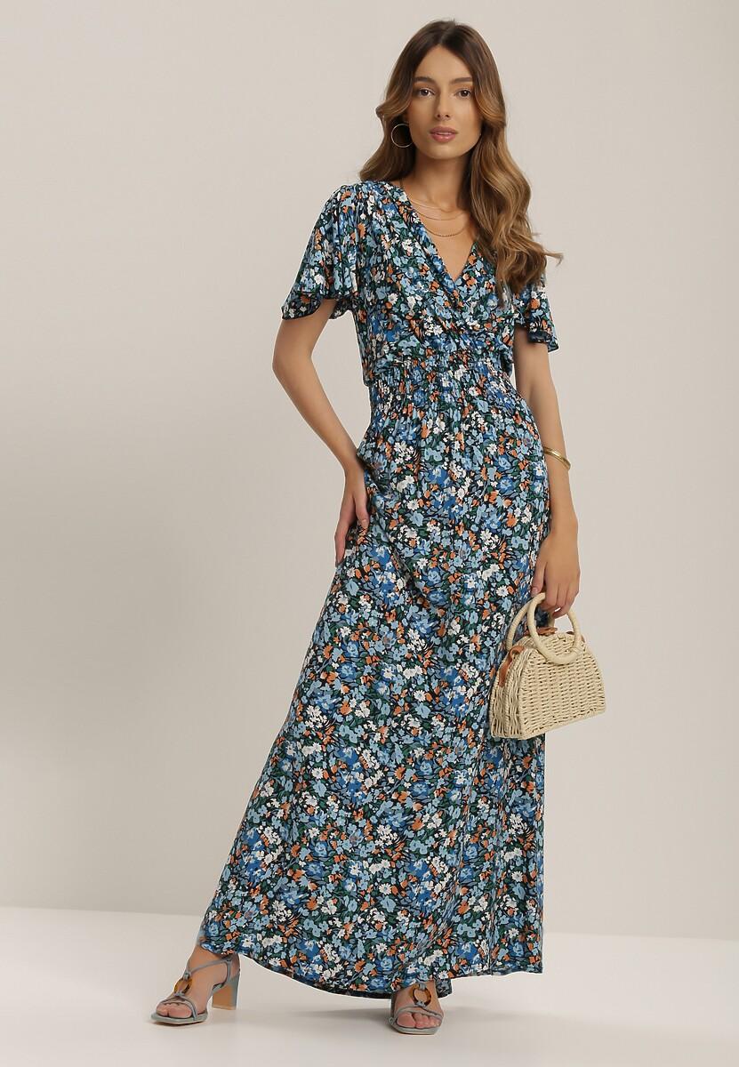 Granatowa Sukienka Nereifer