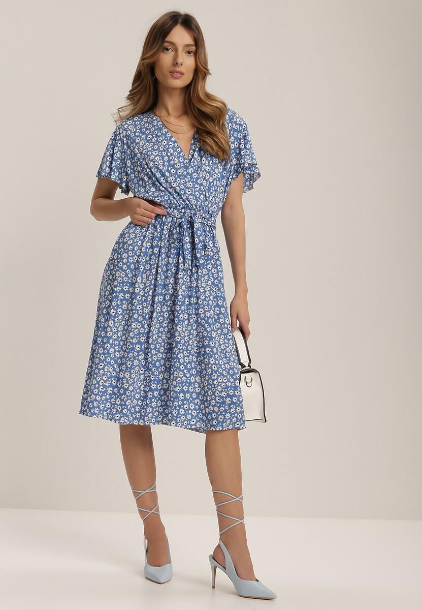 Niebieska Sukienka Aqeafer