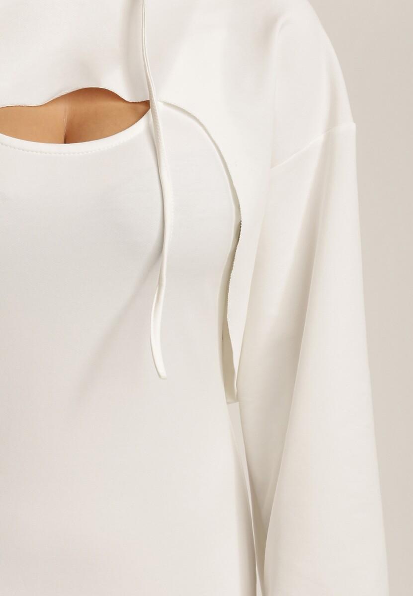 Biały Komplet Dwuczęściowy Amapea