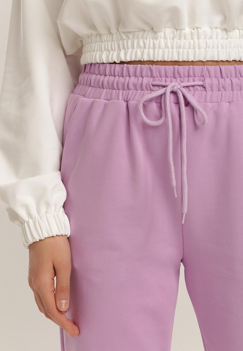 Liliowe Spodnie Doriashell
