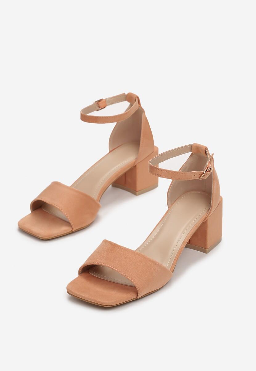 Pomarańczowe Sandały Adrasura