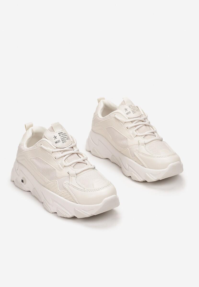 Beżowe Sneakersy Themiria