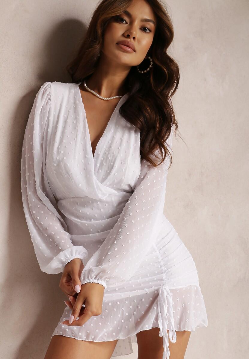 Biała Sukienka Ianbanise
