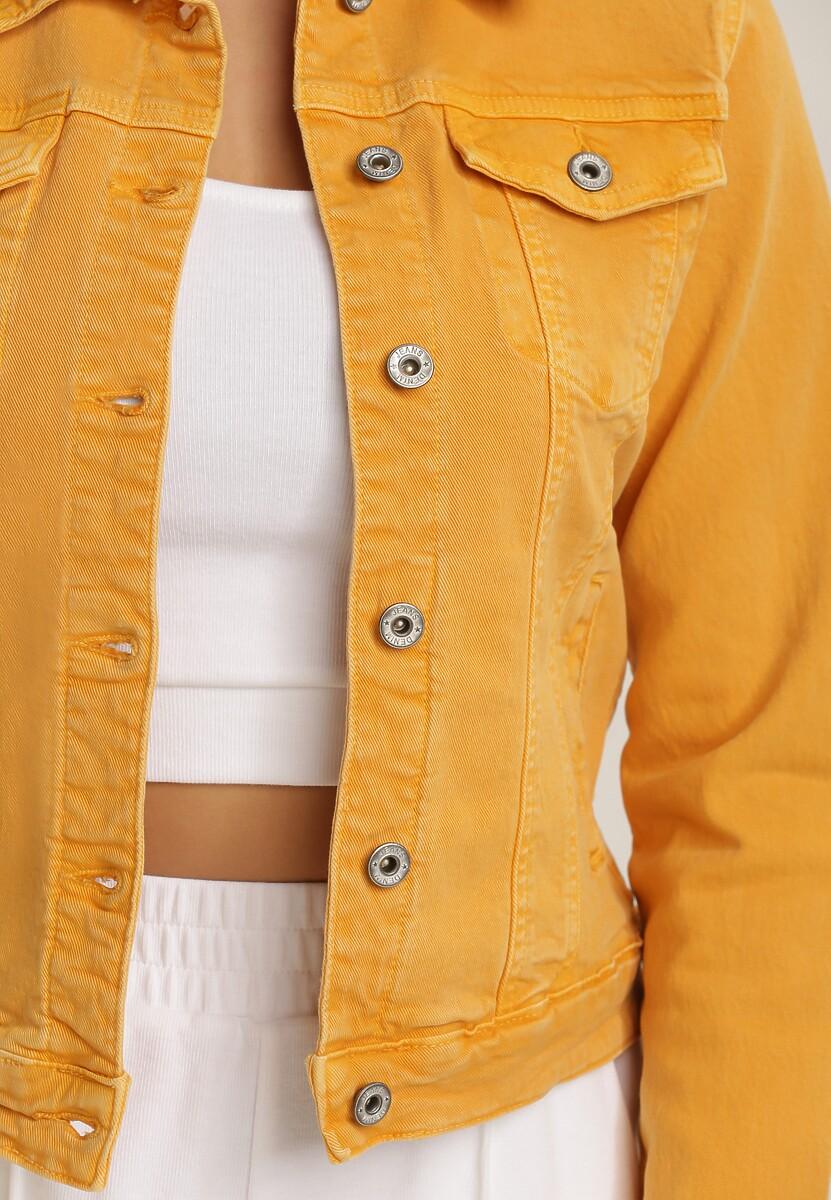 Żółta Kurtka Jeansowa Peithelia