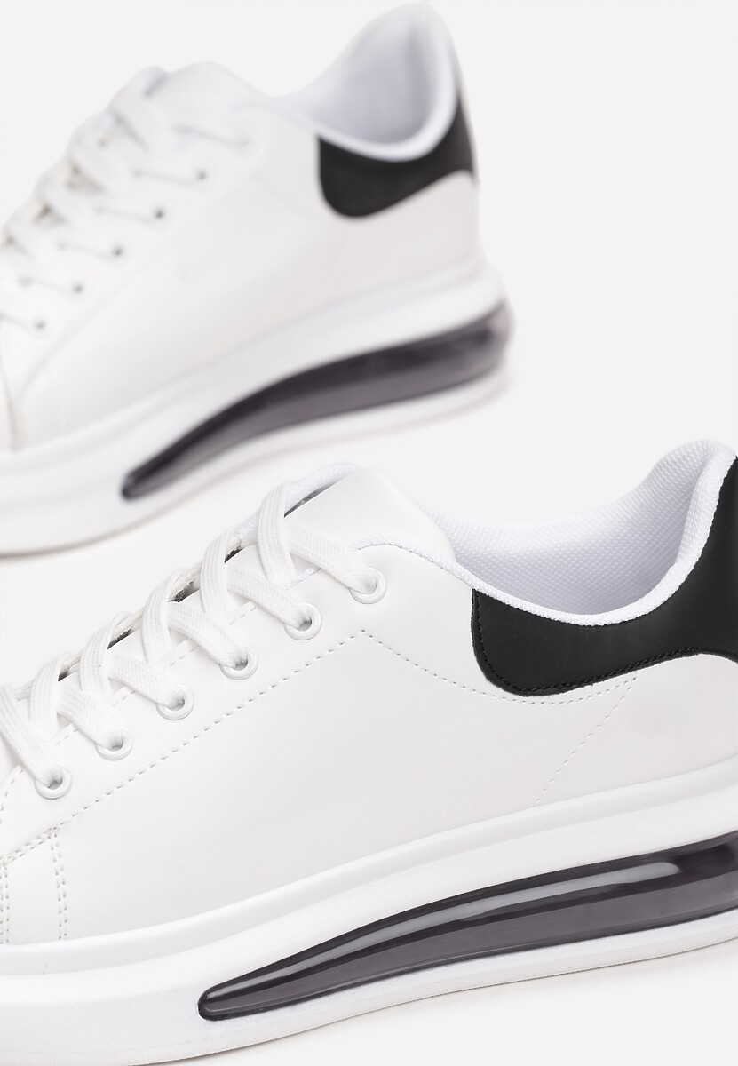 Biało-Czarne Buty Sportowe Marinia