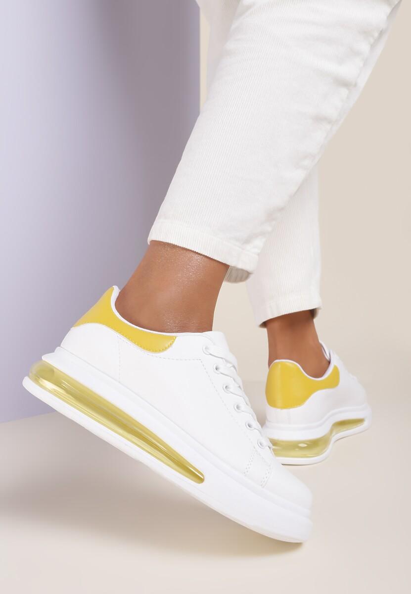 Biało-Żółte Buty Sportowe Marinia