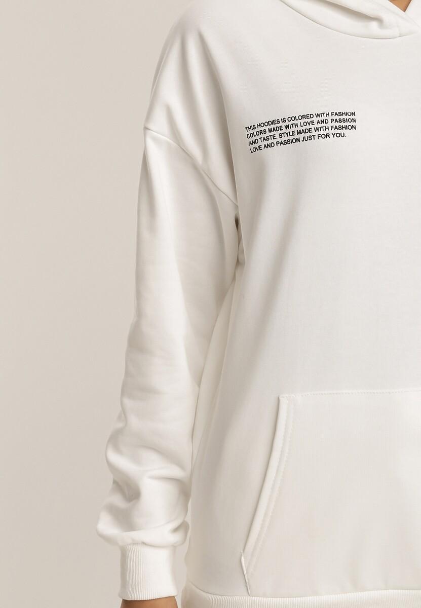 Biały Komplet Dresowy Dwuczęściowy Zrixieth