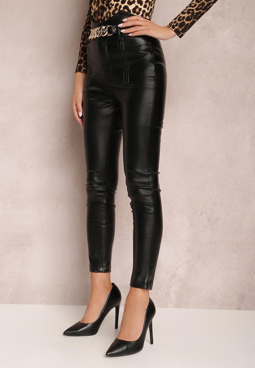 Czarne Spodnie Skinny Qyrona