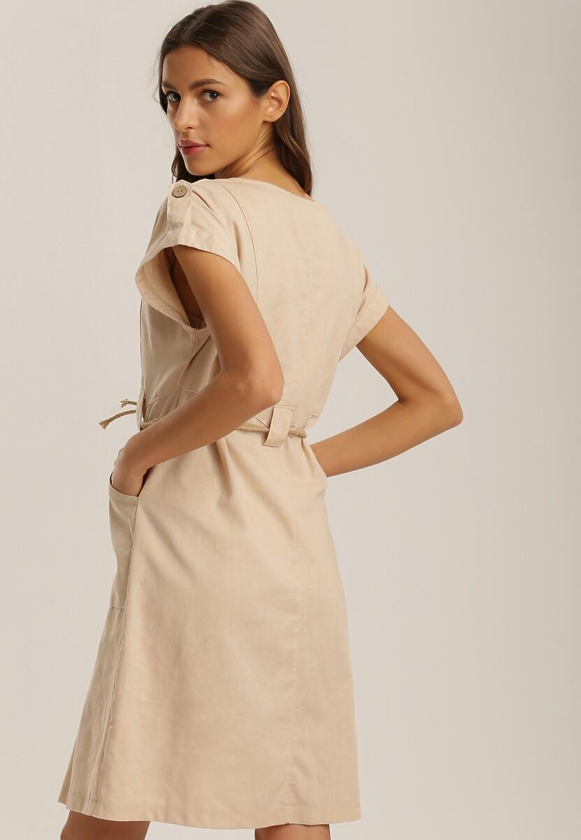 Beżowa Sukienka Yserney