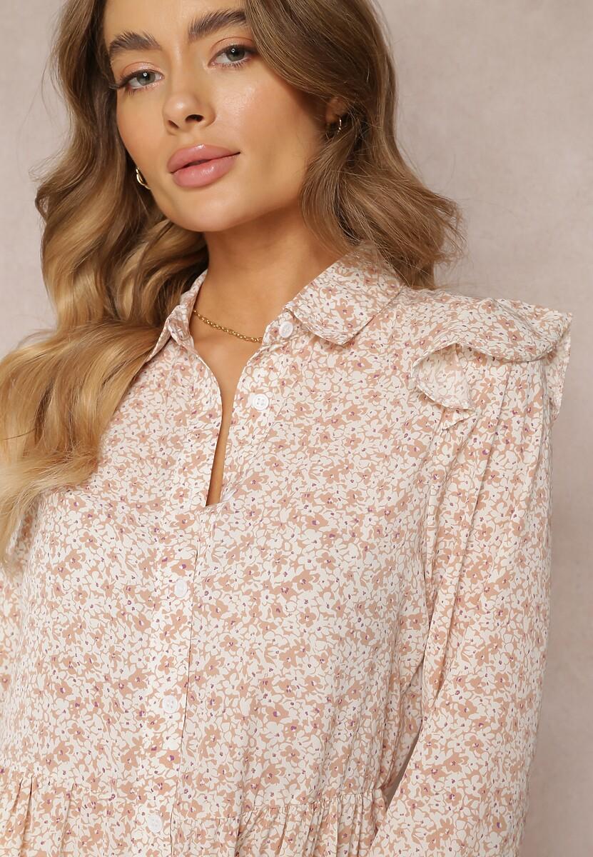 Beżowa Sukienka Qyrrahne