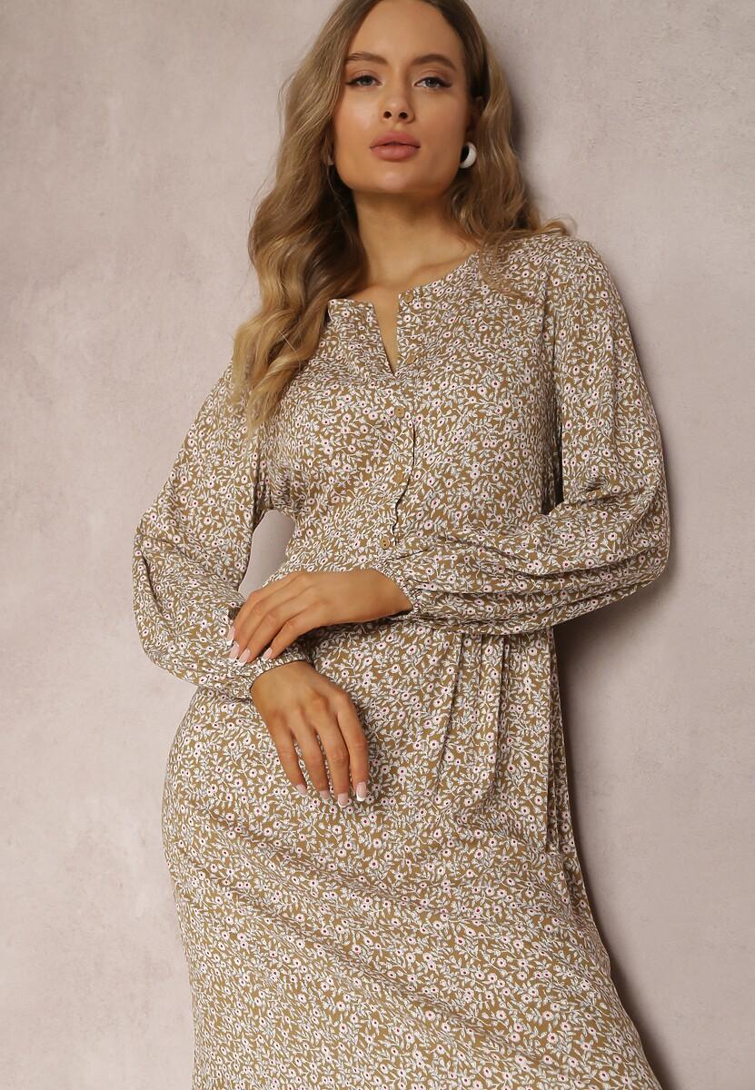 Ciemnobeżowa Sukienka Elinnore