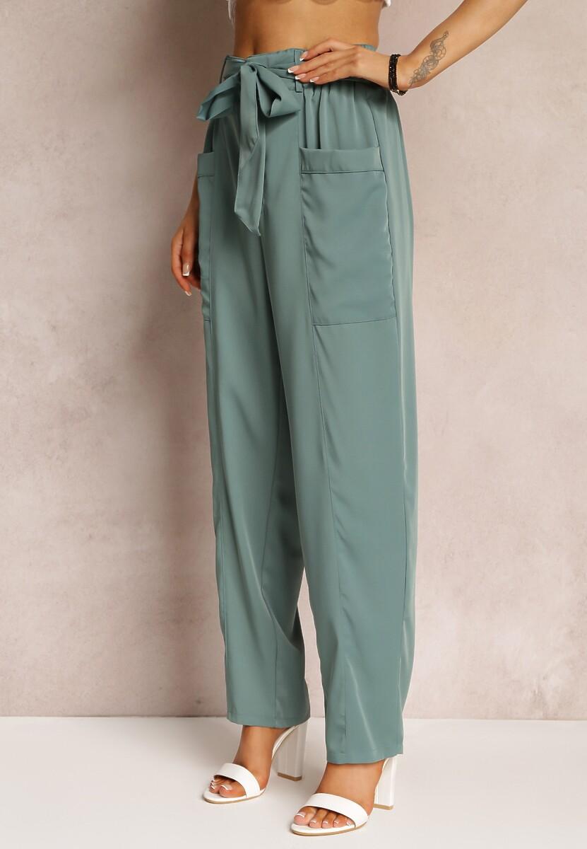 Zielone Spodnie Xenvia