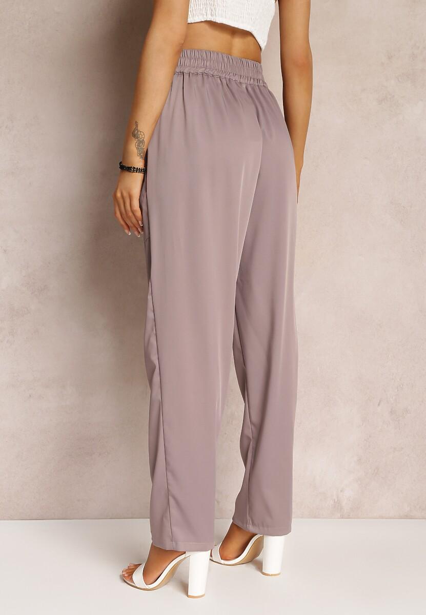 Ciemnofioletowe Spodnie Xenvia