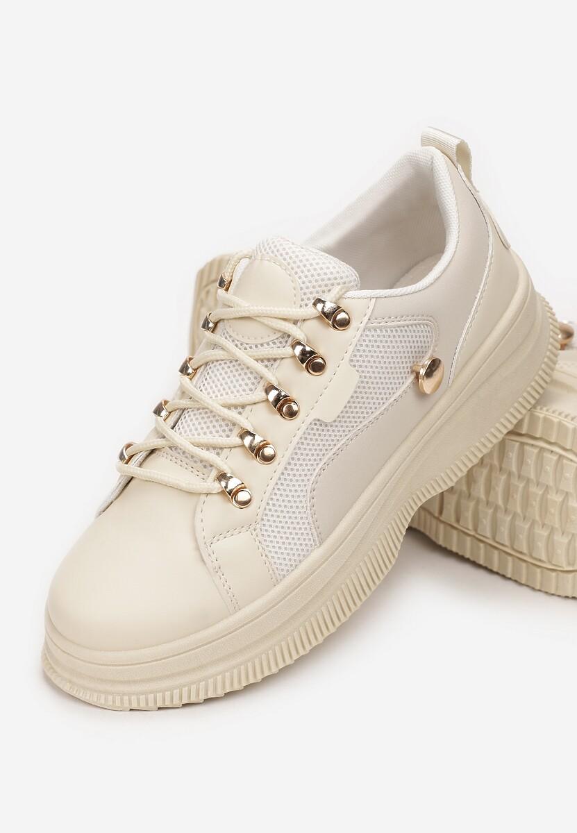 Beżowe Sneakersy Helipheu