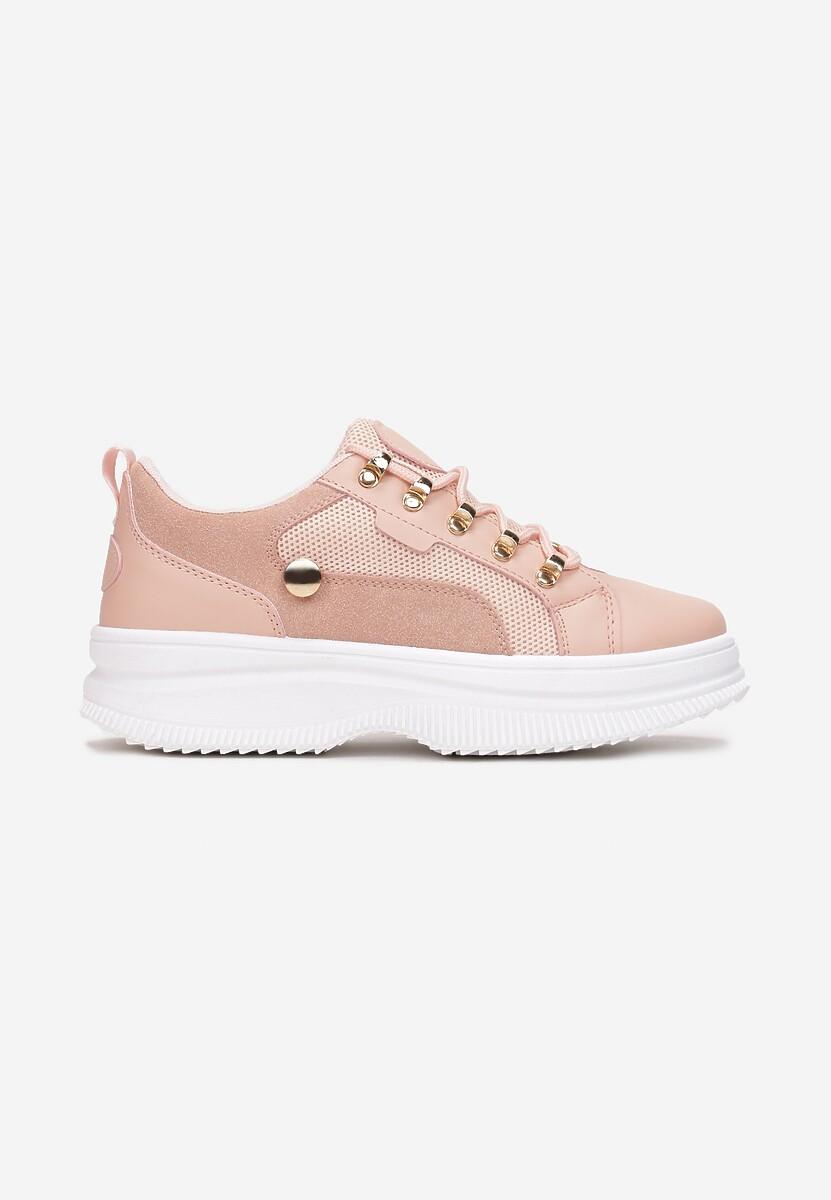 Różowe Sneakersy Helipheu