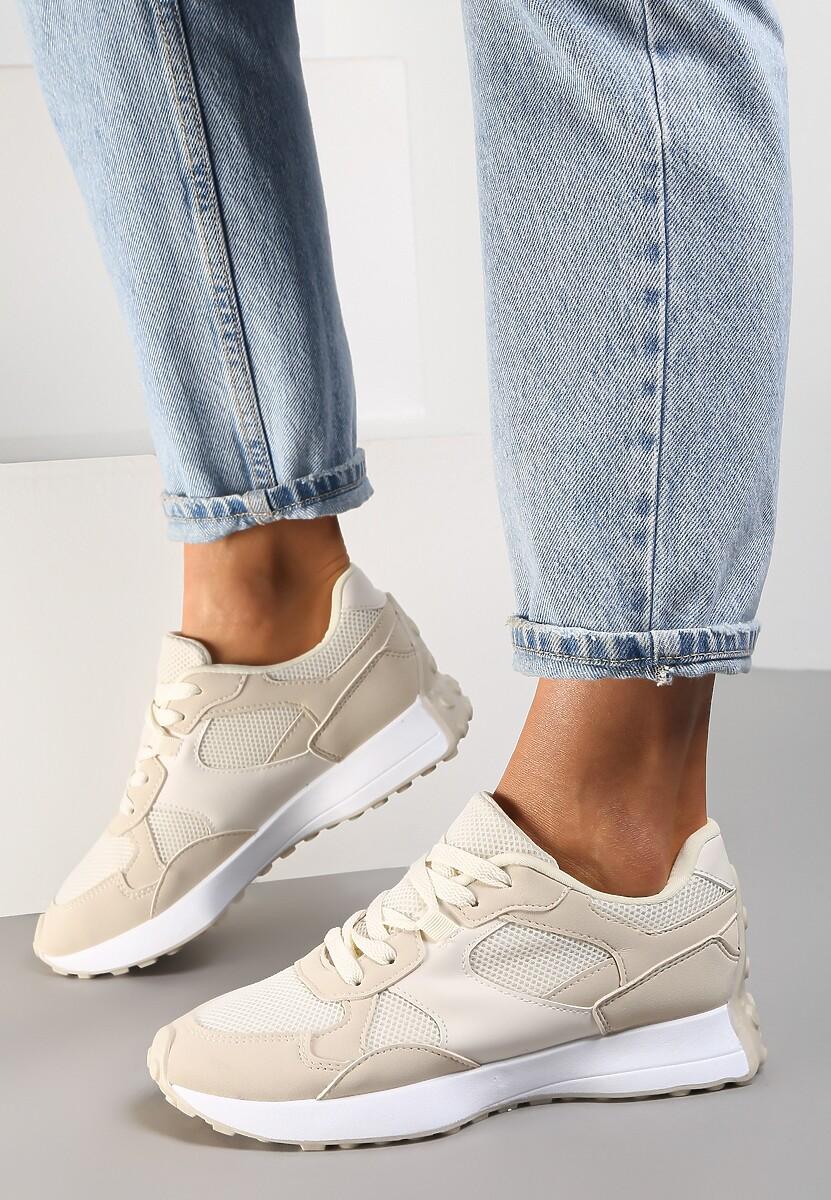Beżowe Sneakersy Petirose