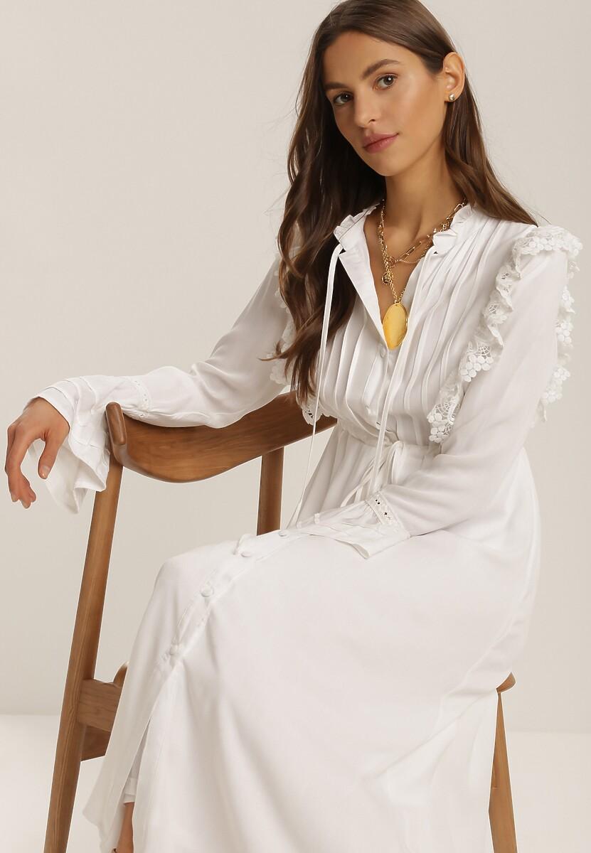 Biała Sukienka Aethais