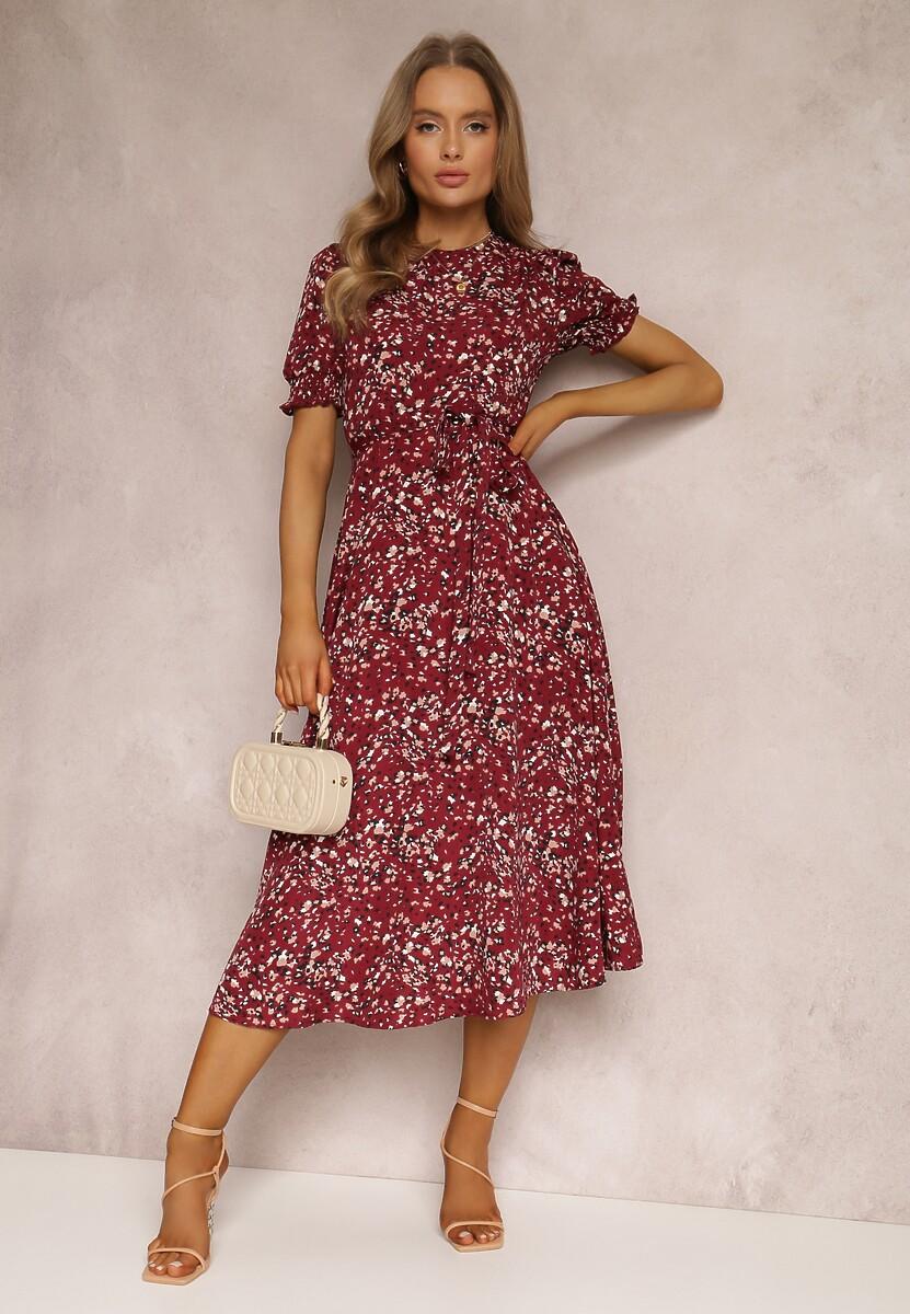 Bordowa Sukienka Shewen