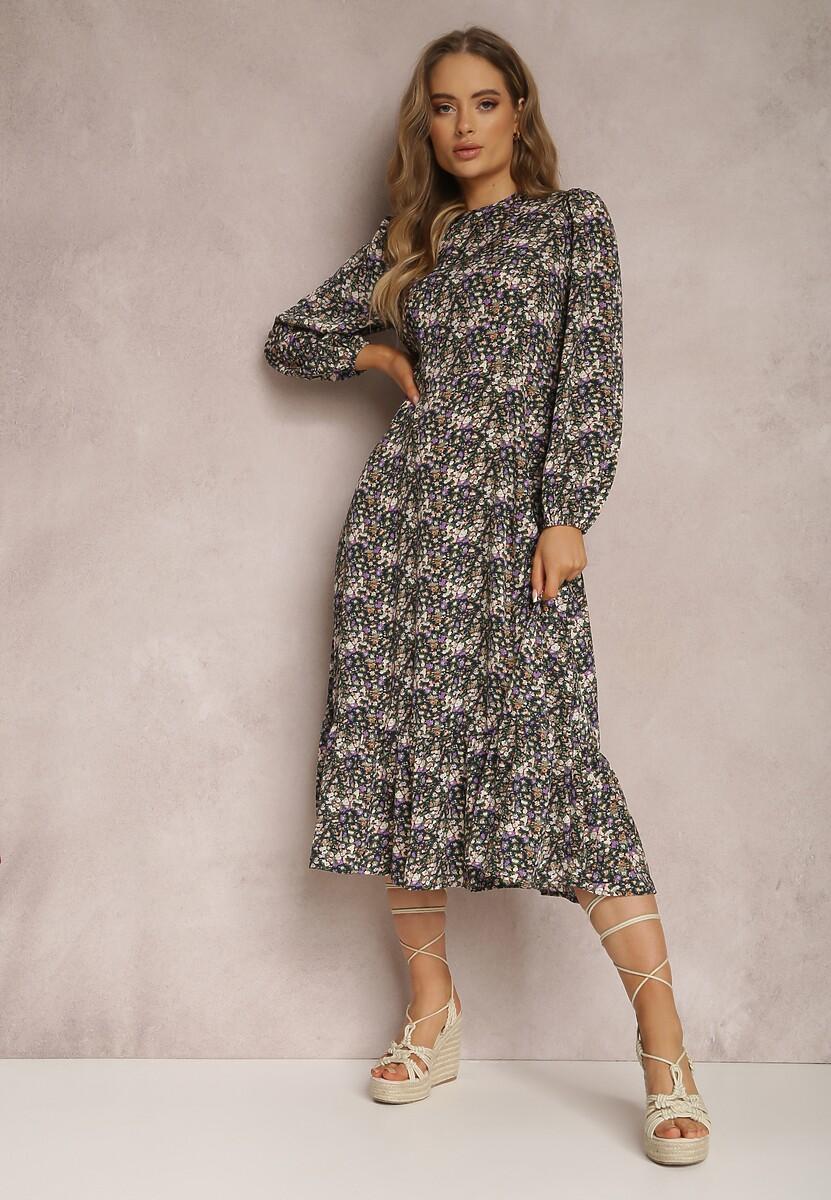 Granatowa Sukienka Nauria