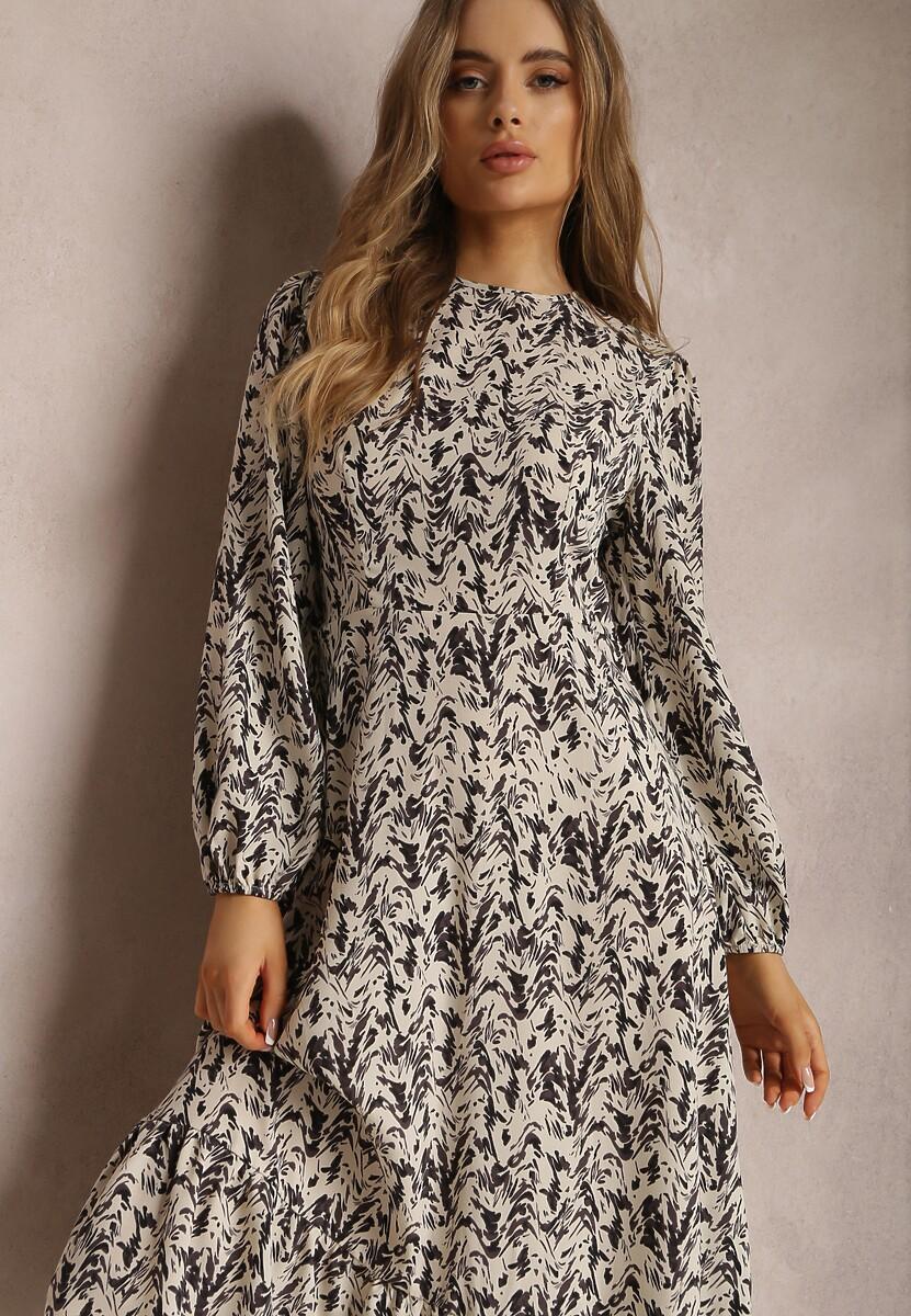 Jasnobeżowa Sukienka Merihaneh