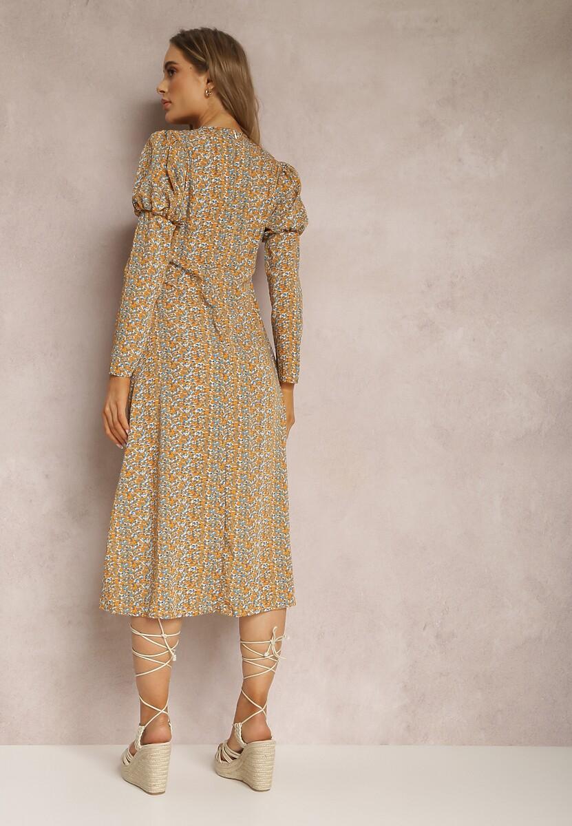 Jasnożółta Sukienka Elinele