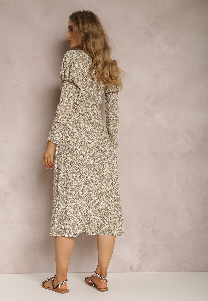 Beżowa Sukienka Phalimeia