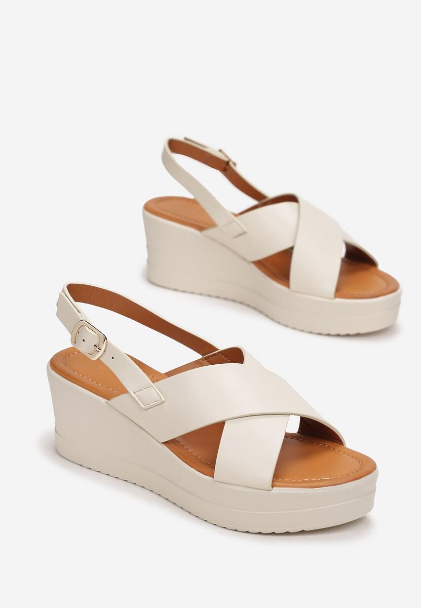 Beżowe Sandały Rhethosa